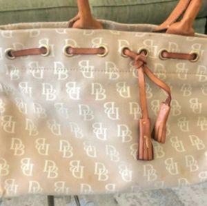 Dooney and Bourke monogram tassell purse